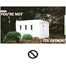 You're Not You Anymore Wall flag  by squidg3