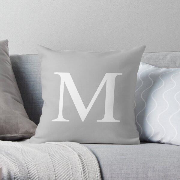 Silver Gray Basic Monogram M Cojín
