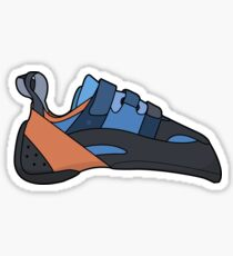 Evolv Climbing Shoe Illustration // Climbing Sticker Sticker