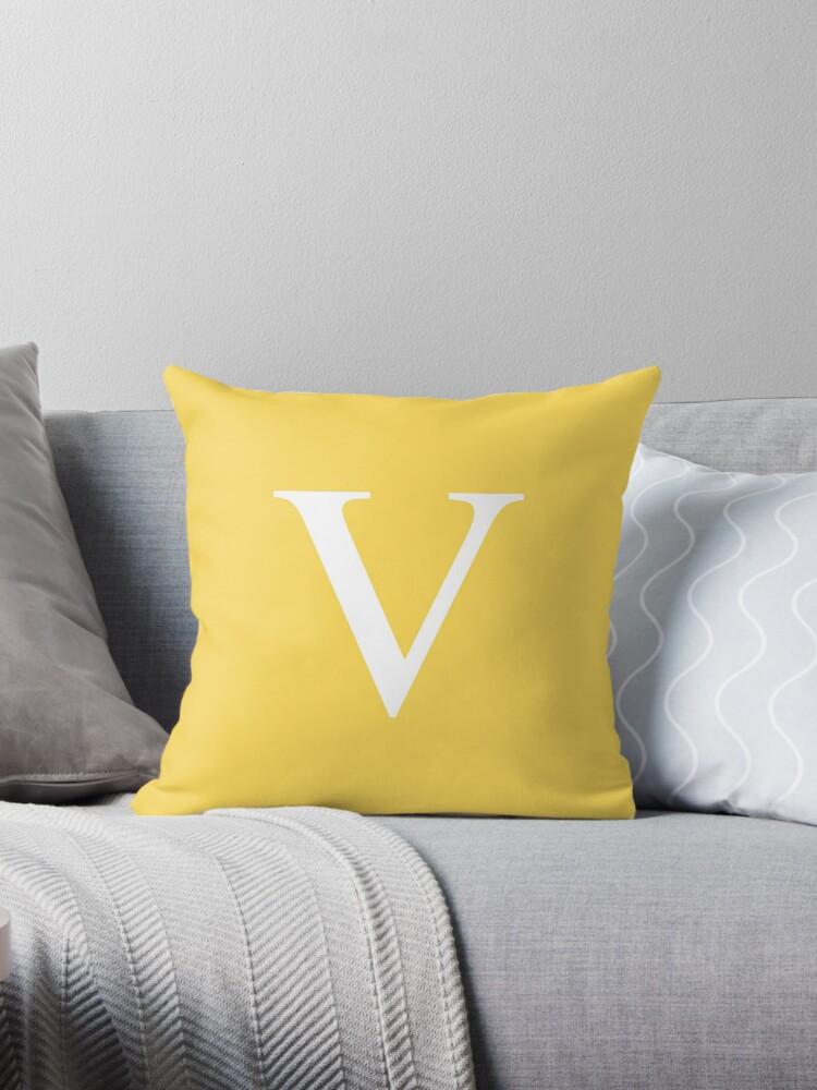 Mustard Yellow Basic Monogram V by rewstudio