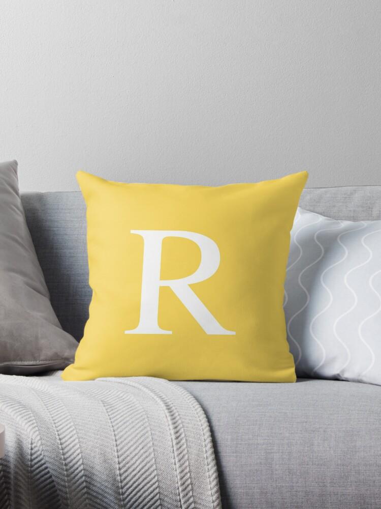 Mustard Yellow Basic Monogram R by rewstudio