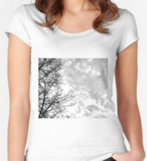 Cloudy Skies Women's Fitted Scoop T-Shirt