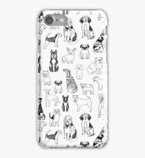 Dogs Dogs Dogs - White background iPhone Case/Skin