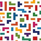 Tetris Colorful Pattern by CroDesign