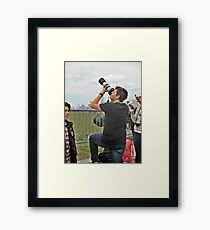 Now This Camera Means Business! Framed Print