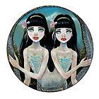 Siamese Serpentine Sisters by KimTurner