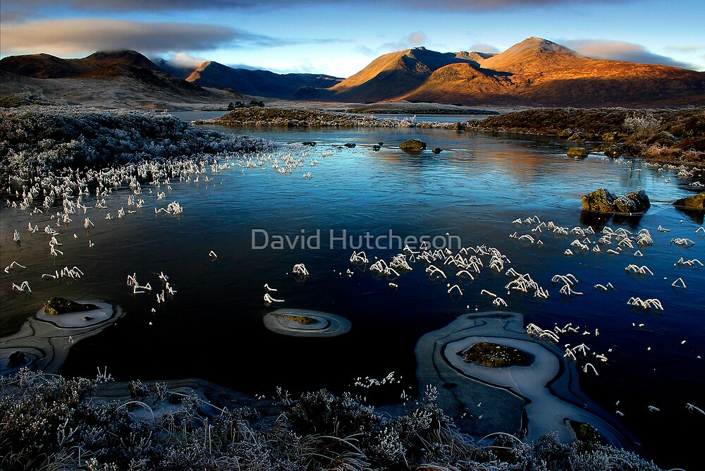 Lochan na h-Achlaise -  Ice rings by David Hutcheson