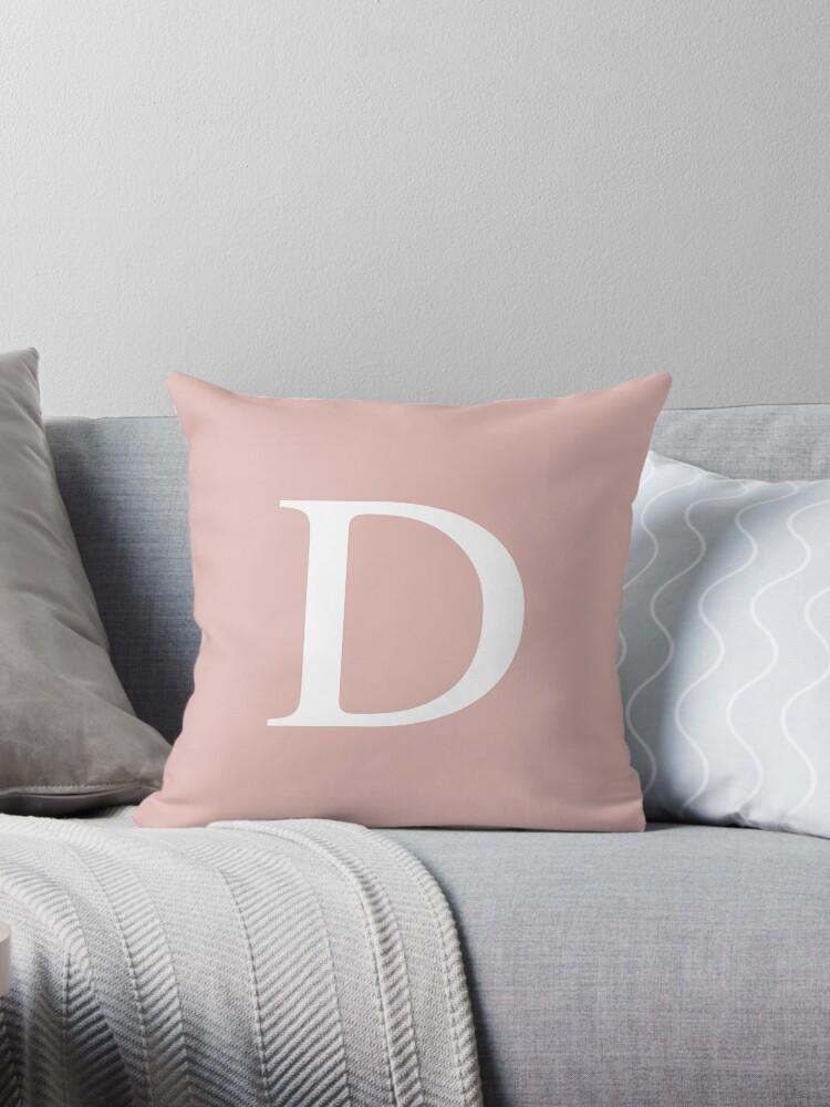Rose Gold Basic Monogram D by rewstudio