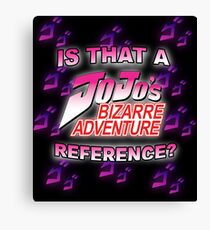 Jojo Reference Canvas Print