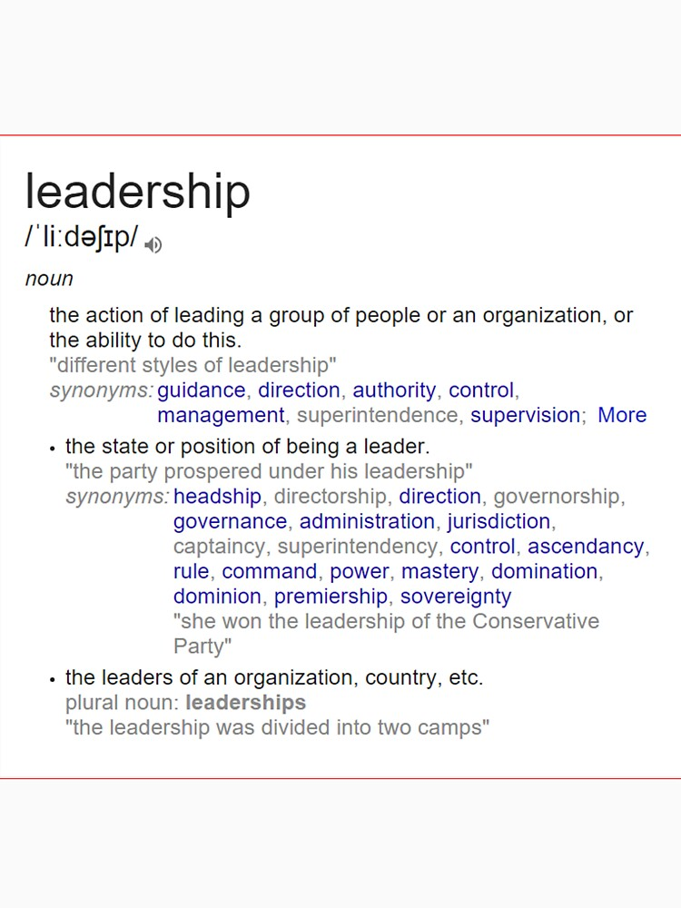 What does leadership mean ? by santoshputhran