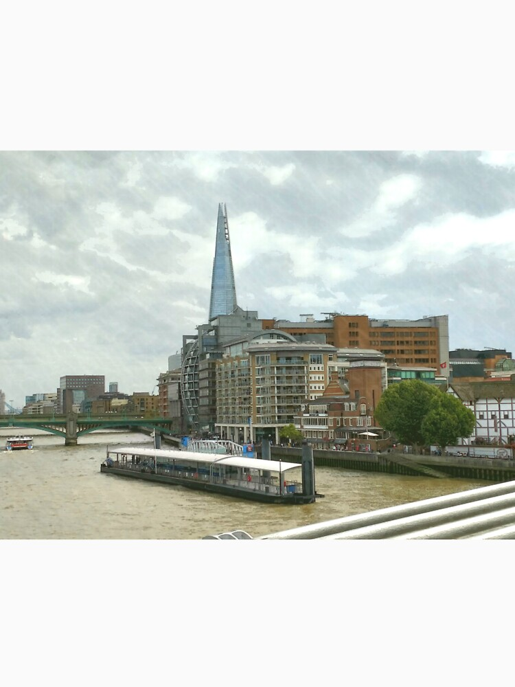 The Shard London looks part of the building  by santoshputhran