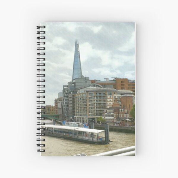 The Shard London looks part of the building  Spiral Notebook