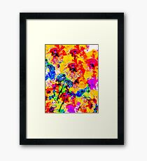 Hibiscus Impressionist Series Framed Print