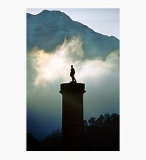 Glenfinnan monument in the mist Photographic Print