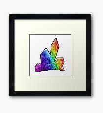 Crystalline - Rainbow Framed Print