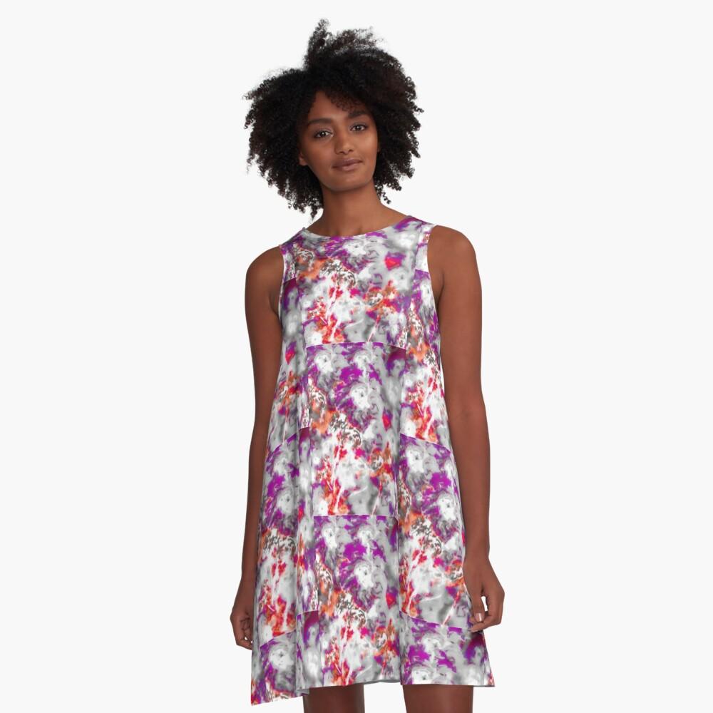 Pila Fashion Design - Hibiscus Impressionist Series A-Line Dress Front