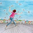 Running girl  by Solotry