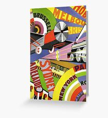 Australian city banners planes trains and ships 073 Greeting Card