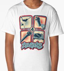 4 Elements of Hip Hop Long T-Shirt