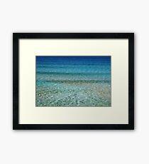 Beach water Framed Print