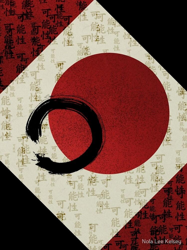 Ensō-Kreis mit Kanji-Potential # 1 von NolaLeeKelsey