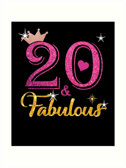20 Fabulous Queen Shirt 20th Birthday Gifts By Kimcf