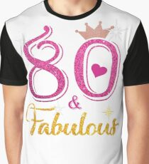 80 Fabulous Queen 80th Birthday Gifts  Graphic T-Shirt
