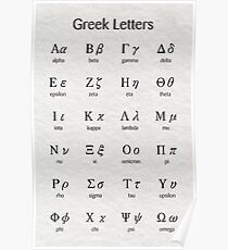 Greek letters Poster