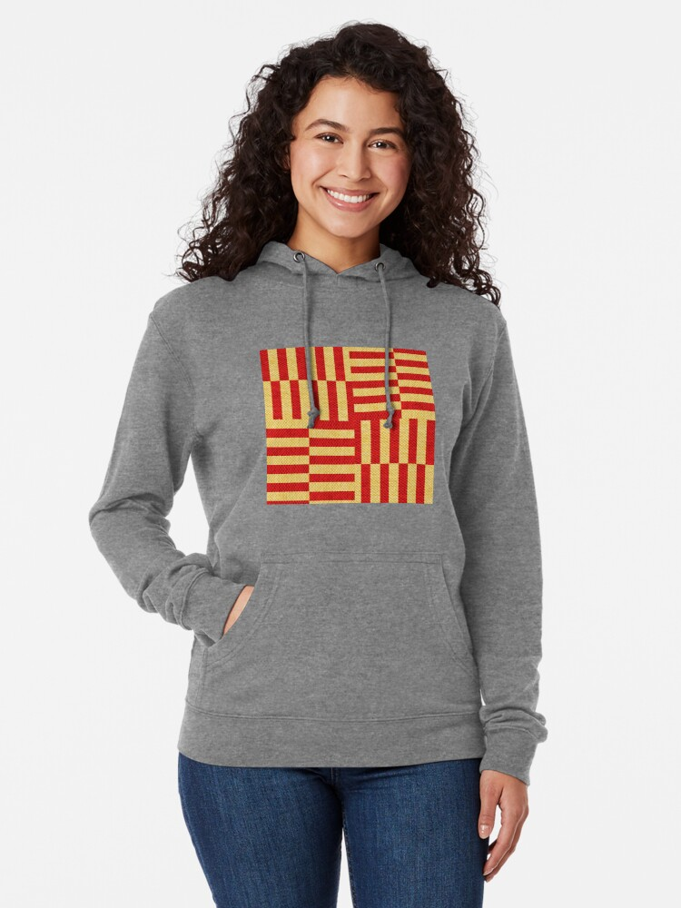 Alternate view of stripes pattern Lightweight Hoodie