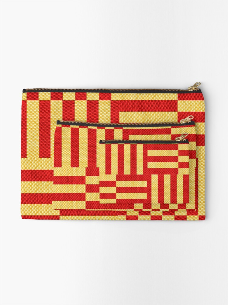 Alternate view of stripes pattern Zipper Pouch