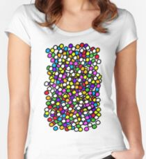 Bubble GUM Colorful Balls Women's Fitted Scoop T-Shirt