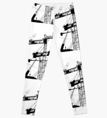 Black construction crane Leggings