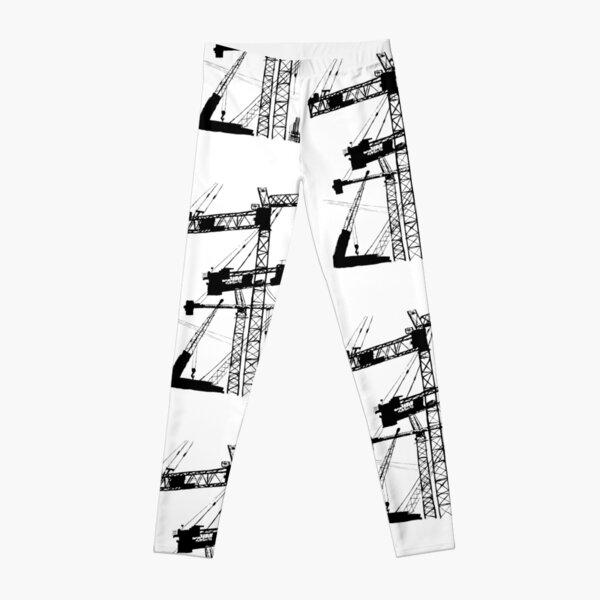 Black construction crane Leggings