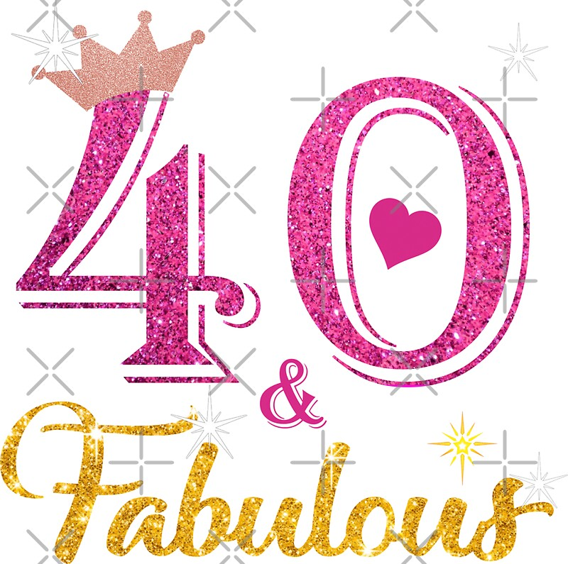 """""""40 Fabulous Queen 40th Birthday Gifts"""" Stickers By Kimcf"""