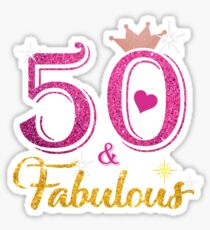 50 Fabulous Queen 50th Birthday Gifts Sticker