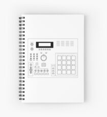 AKAI MPC 2000 Blueprint transparent Spiral Notebook