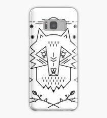 Line art. Wolf Samsung Galaxy Case/Skin