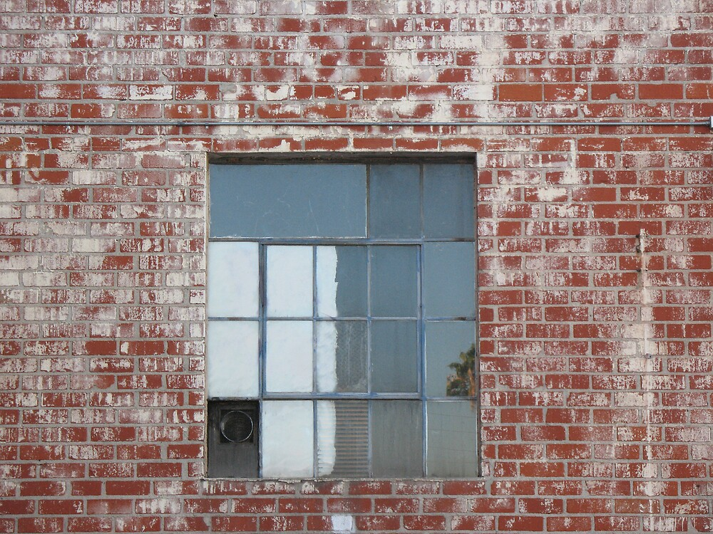 Brick Wall and Window by donnagrayson