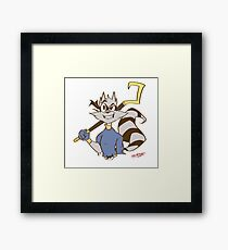 Sly Cooper by @LOLITATSUKO Framed Print