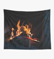 Hot Stone Hearth Wall Tapestry