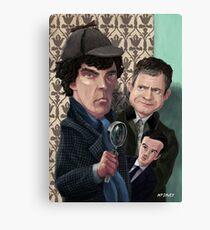 Sherlock Holmes Watson and Moriarty at 221B Canvas Print