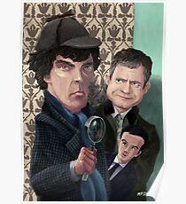 Sherlock Holmes Watson and Moriarty at 221B Poster