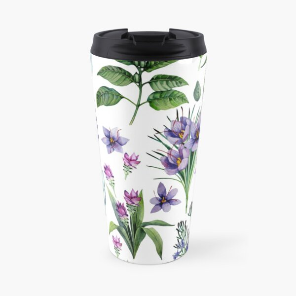 Watercolor botanical collection of herbs and spices Travel Mug