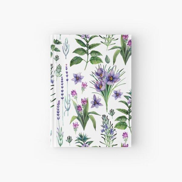 Acuarela colección botánica de hierbas y especias. Cuaderno de tapa dura