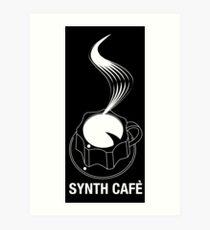 Synth Cafè - White Logo 2016 Art Print
