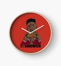 21 Sandwich Clock