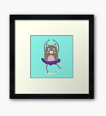 Cat Ballerina Dancing Rfnq7 Framed Print