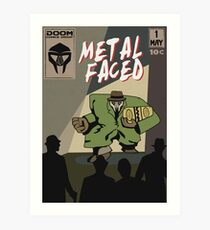 Metal Faced - Comic Cover Kunstdruck