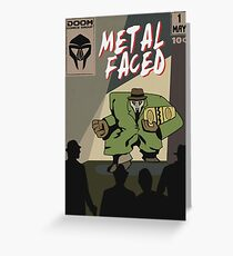 Metal Faced - Comic Cover Greeting Card