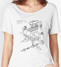 Nissan L4 Exploded View Women's Relaxed Fit T-Shirt